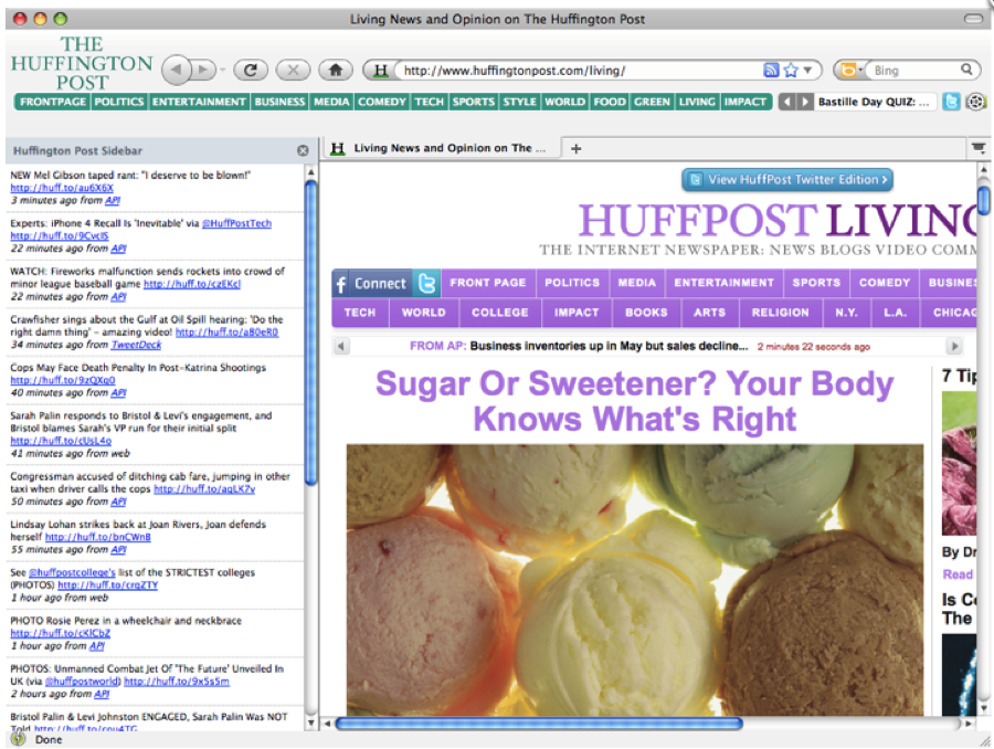 Huffington Post Browser Theme