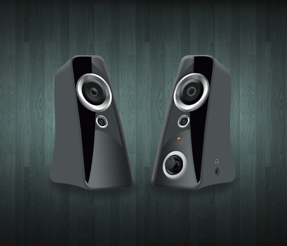Speaker Icon Free PSD