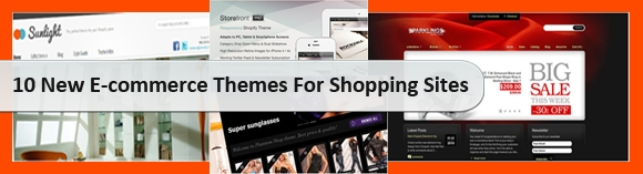 10 New E-commerce Themes For Shopping Sites