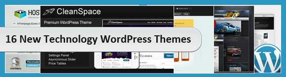 16 New Technology WordPress Themes