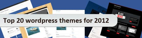 Top 20 wordpress themes for 2012