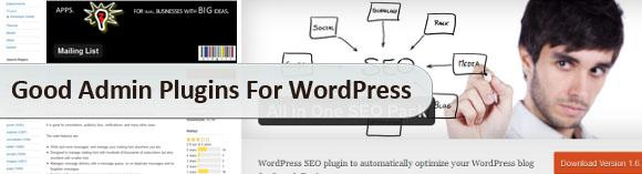 Good Admin Plugins For WordPress