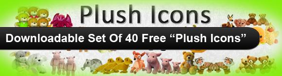 Downloadable Set Of 40 Free Plush Icons2