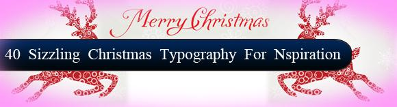 40 Sizzling Christmas typography for 1